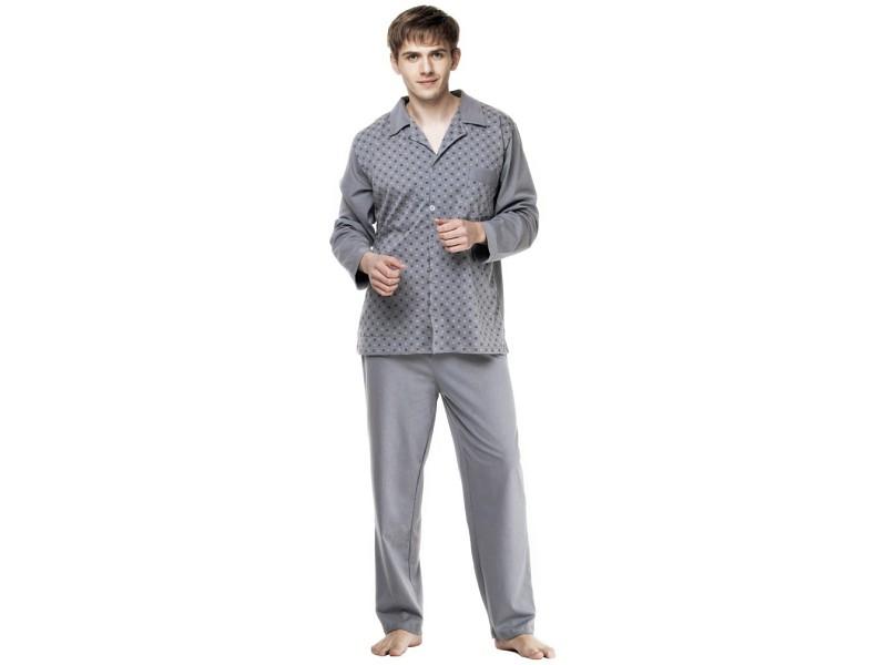 Piżama z dzianiny rozpinana